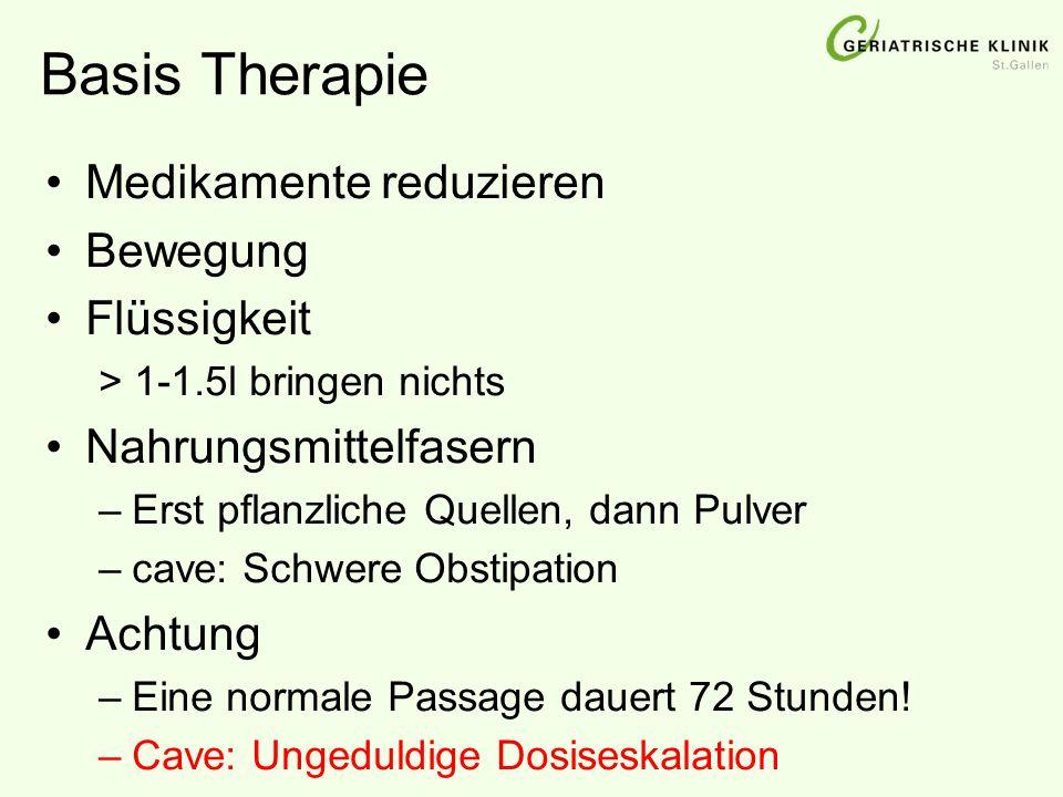 Basis Therapie Medikamente reduzieren Bewegung Flüssigkeit