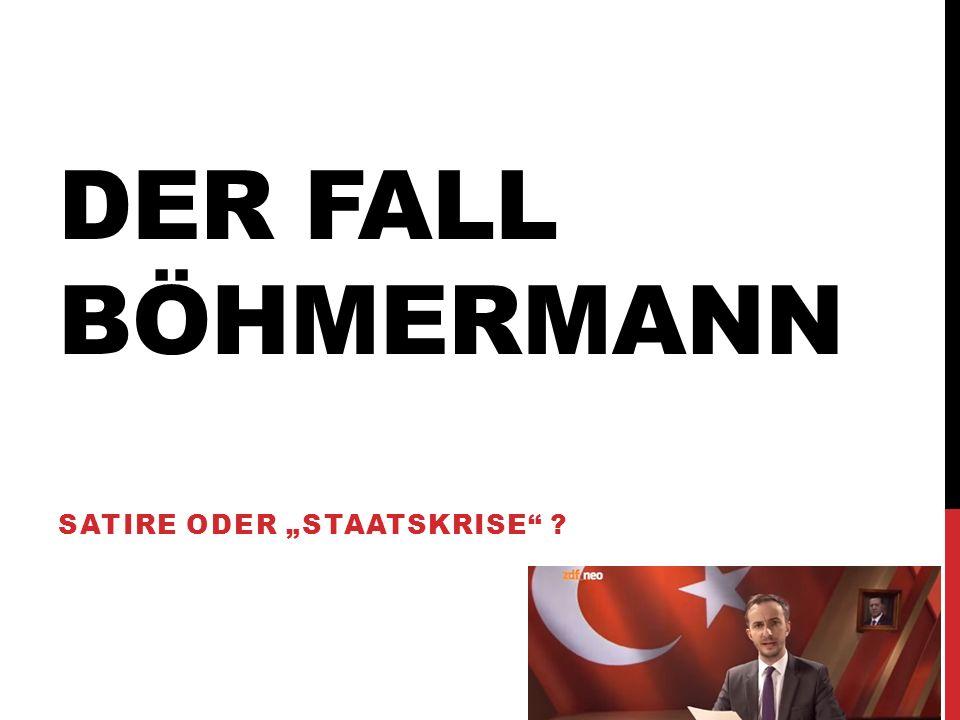 "Satire oder ""Staatskrise"