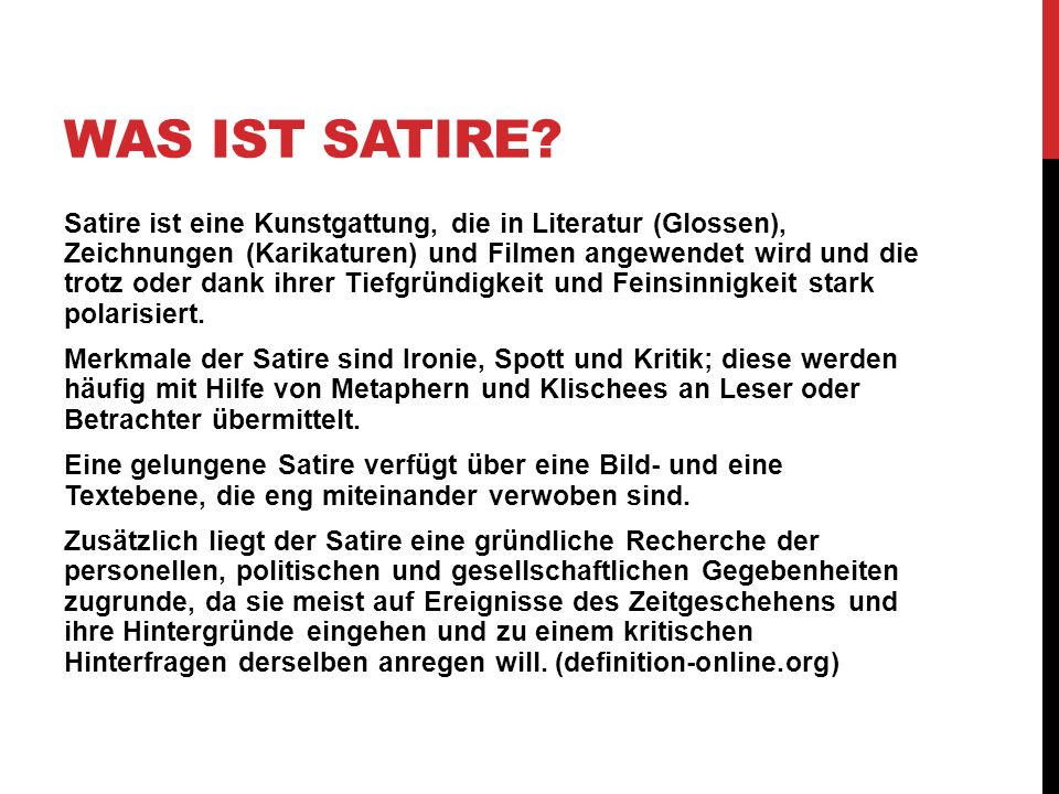 Was ist Satire