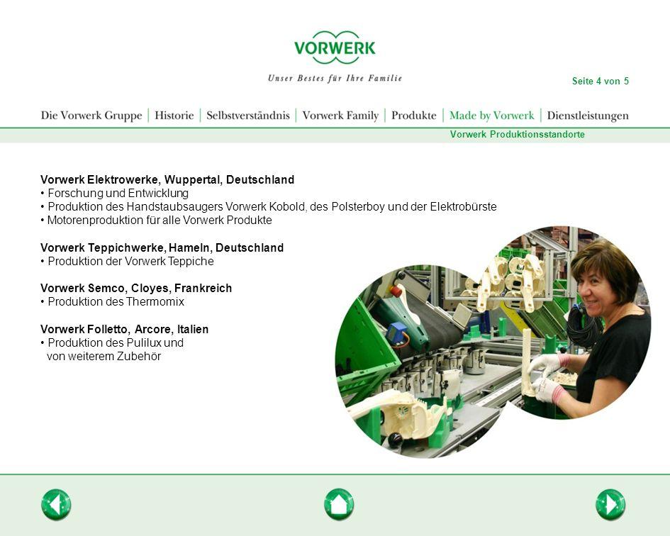 Vorwerk Elektrowerke, Wuppertal, Deutschland Forschung und Entwicklung