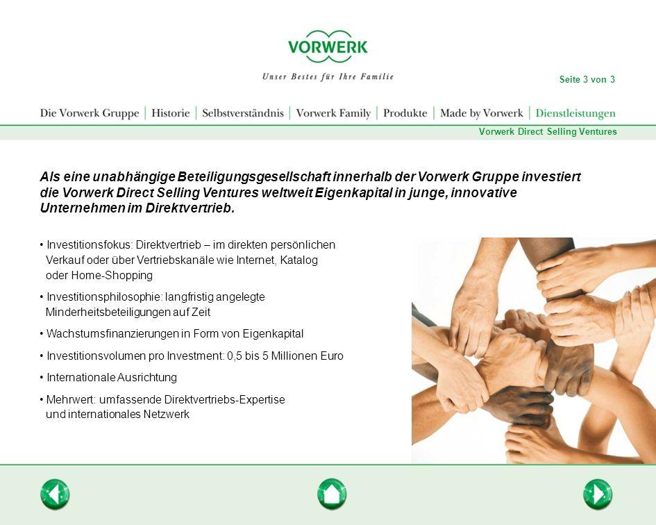 Seite 3 von 3Vorwerk Direct Selling Ventures.