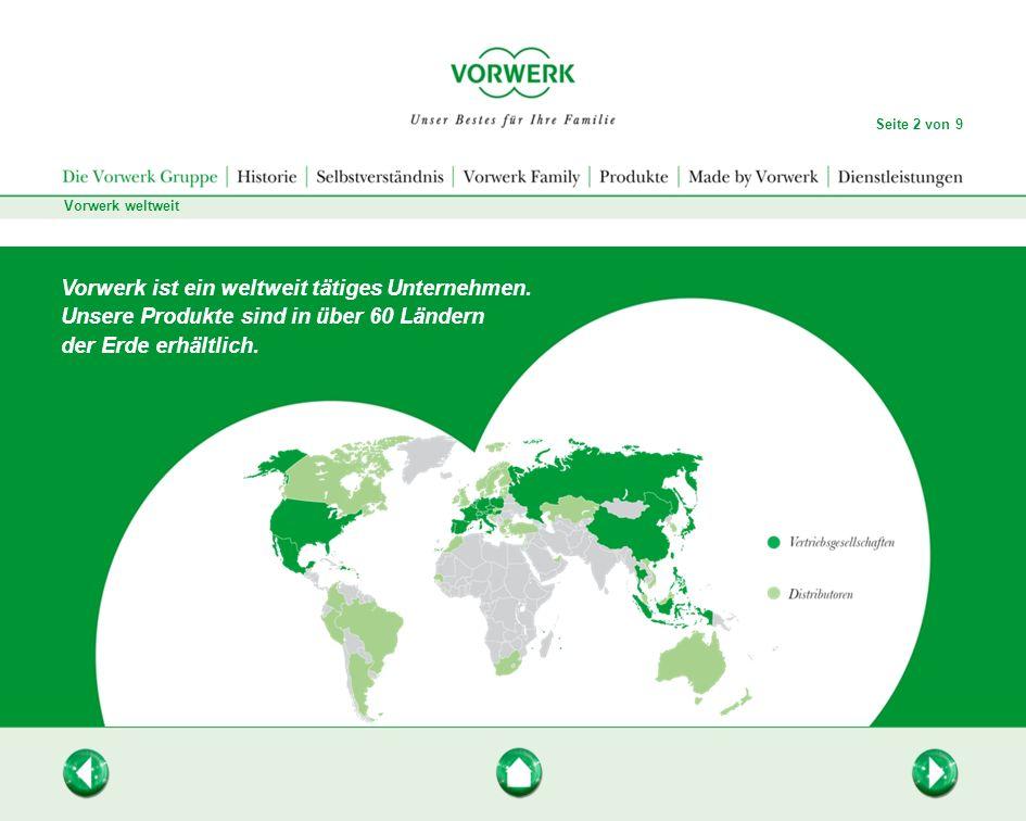 Vorwerk ist ein weltweit tätiges Unternehmen.