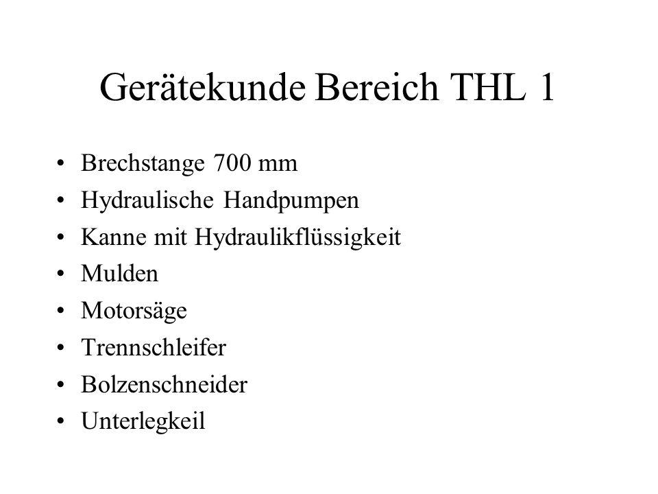 Gerätekunde Bereich THL 1