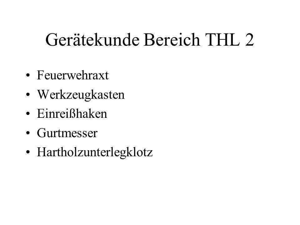Gerätekunde Bereich THL 2