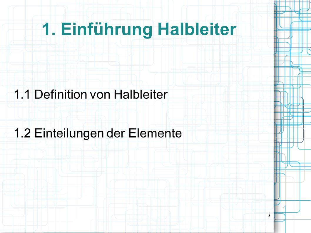 1. Einführung Halbleiter