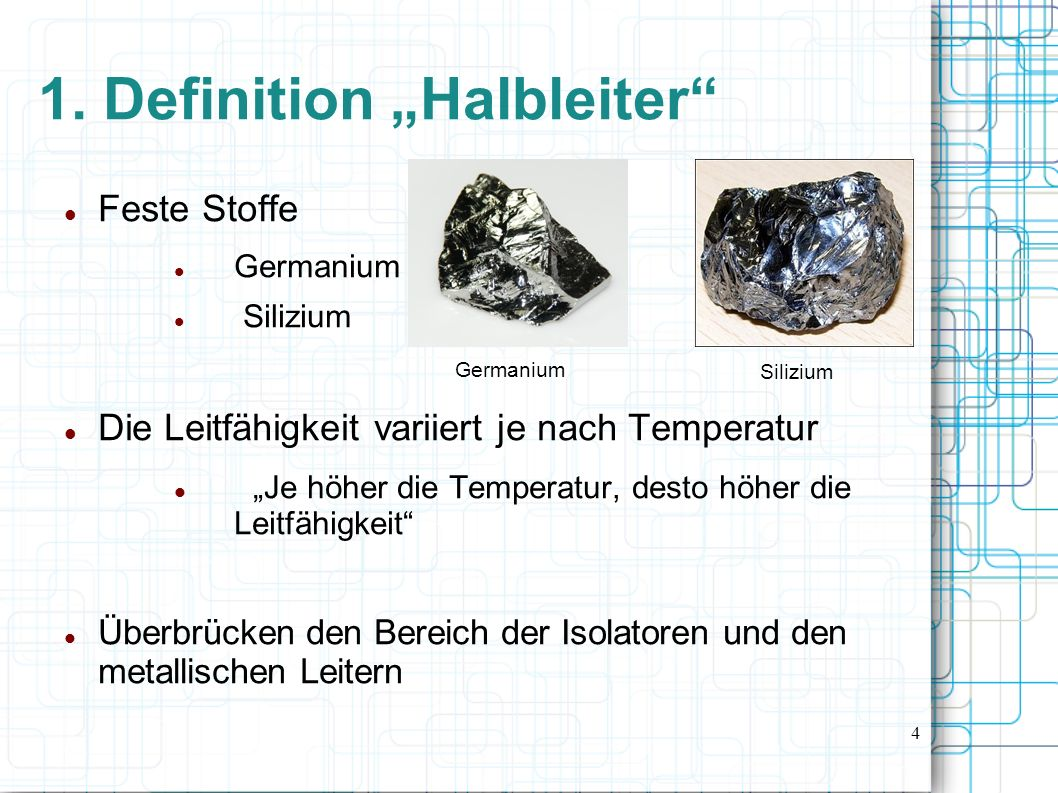 "1. Definition ""Halbleiter"
