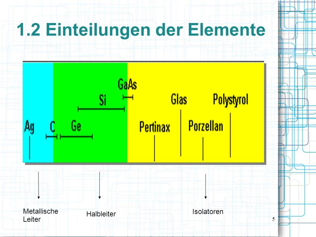 1.2 Einteilungen der Elemente