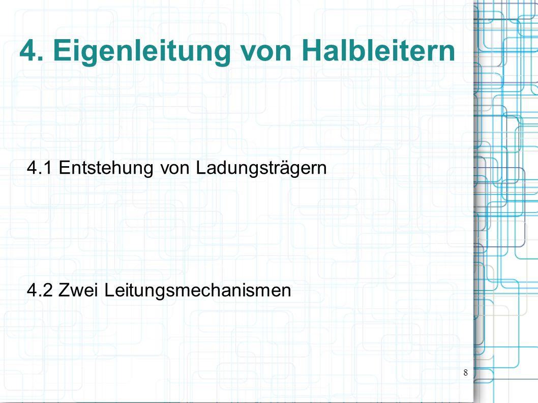 4. Eigenleitung von Halbleitern