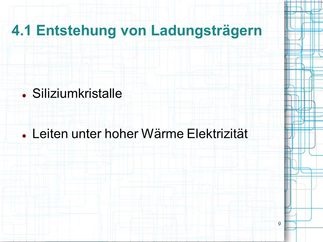 4.1 Entstehung von Ladungsträgern