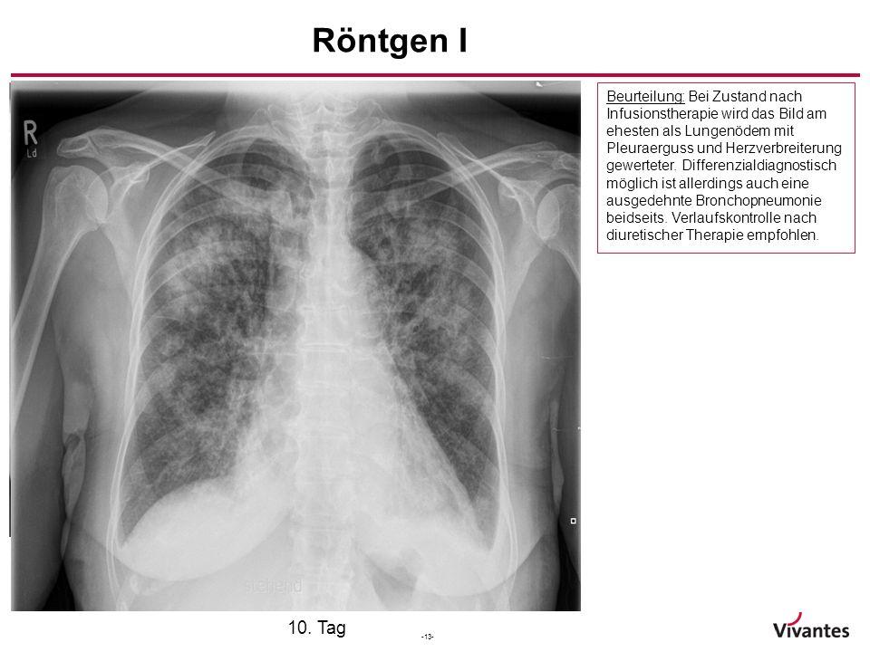 Röntgen I Aufnahmetag 7. Tag 10. Tag