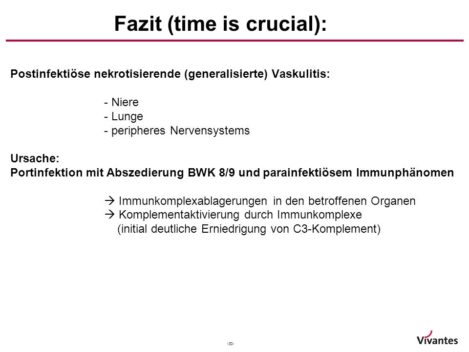 Fazit (time is crucial):