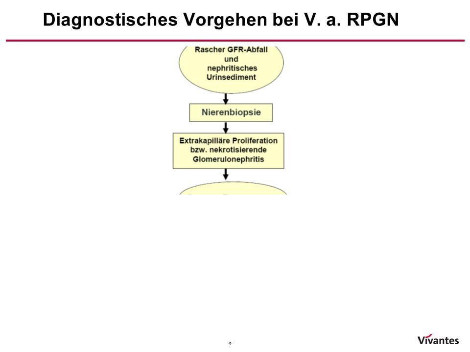 Diagnostisches Vorgehen bei V. a. RPGN