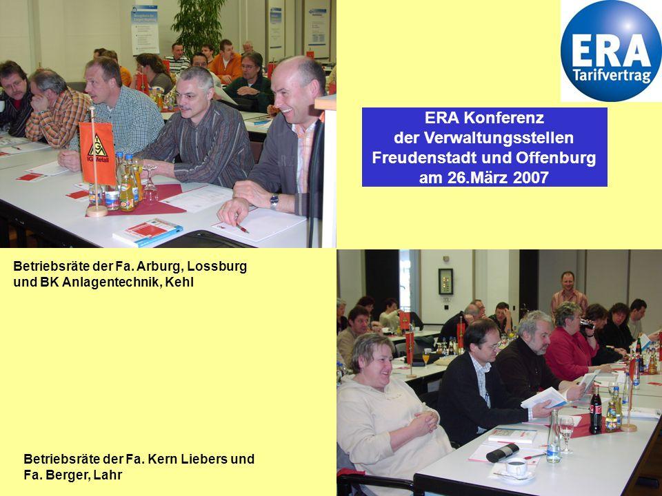 ERA Konferenz der Verwaltungsstellen Freudenstadt und Offenburg am 26