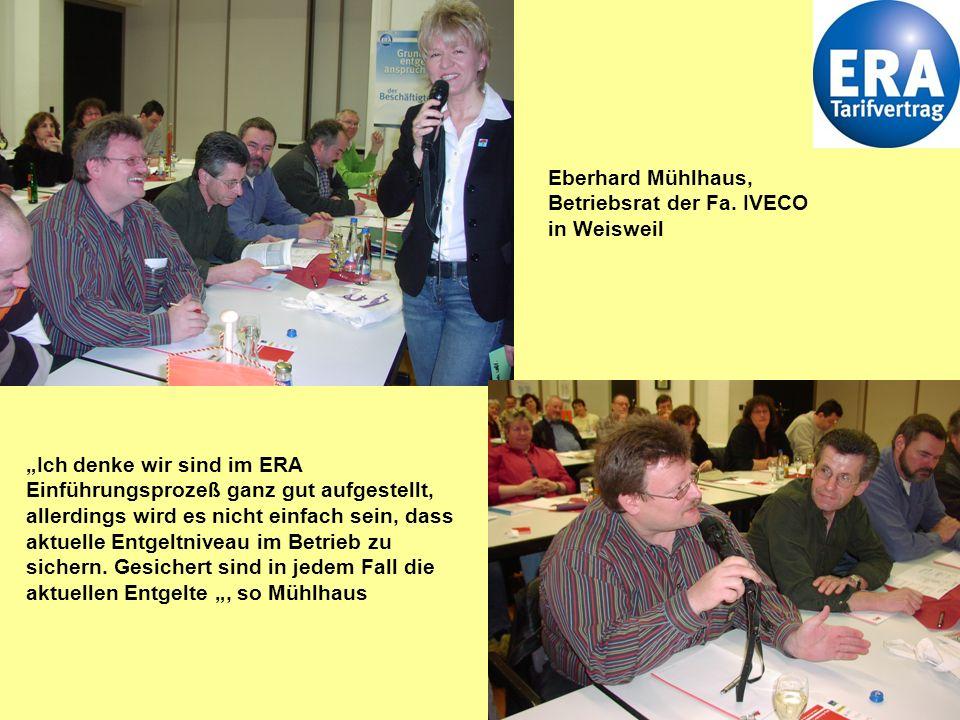 Eberhard Mühlhaus, Betriebsrat der Fa. IVECO in Weisweil