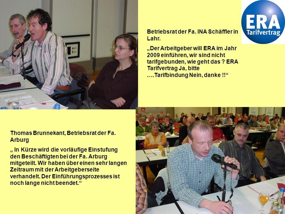 Betriebsrat der Fa. INA Schäffler in Lahr.