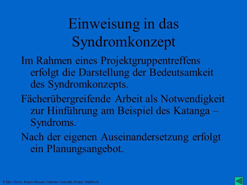 Einweisung in das Syndromkonzept