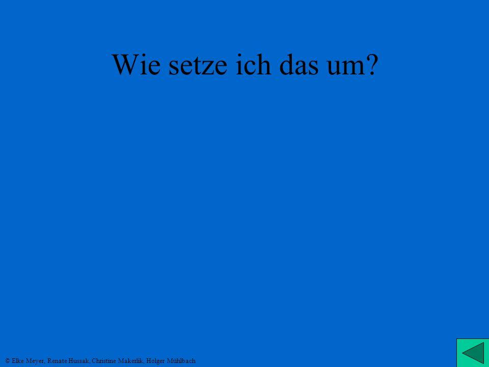 Wie setze ich das um © Elke Meyer, Renate Hussak, Christine Makerlik, Holger Mühlbach
