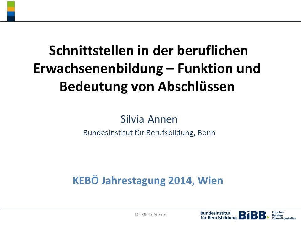 Silvia Annen Bundesinstitut für Berufsbildung, Bonn