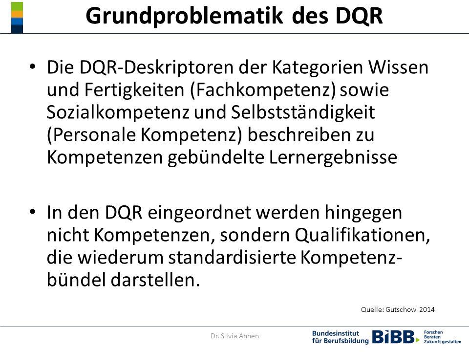Grundproblematik des DQR