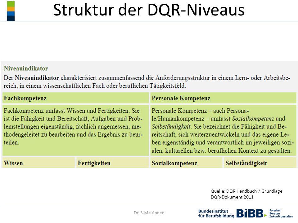 Struktur der DQR-Niveaus