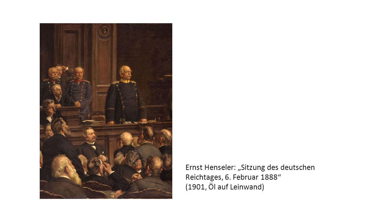 """Ernst Henseler: """"Sitzung des deutschen Reichtages, 6"""