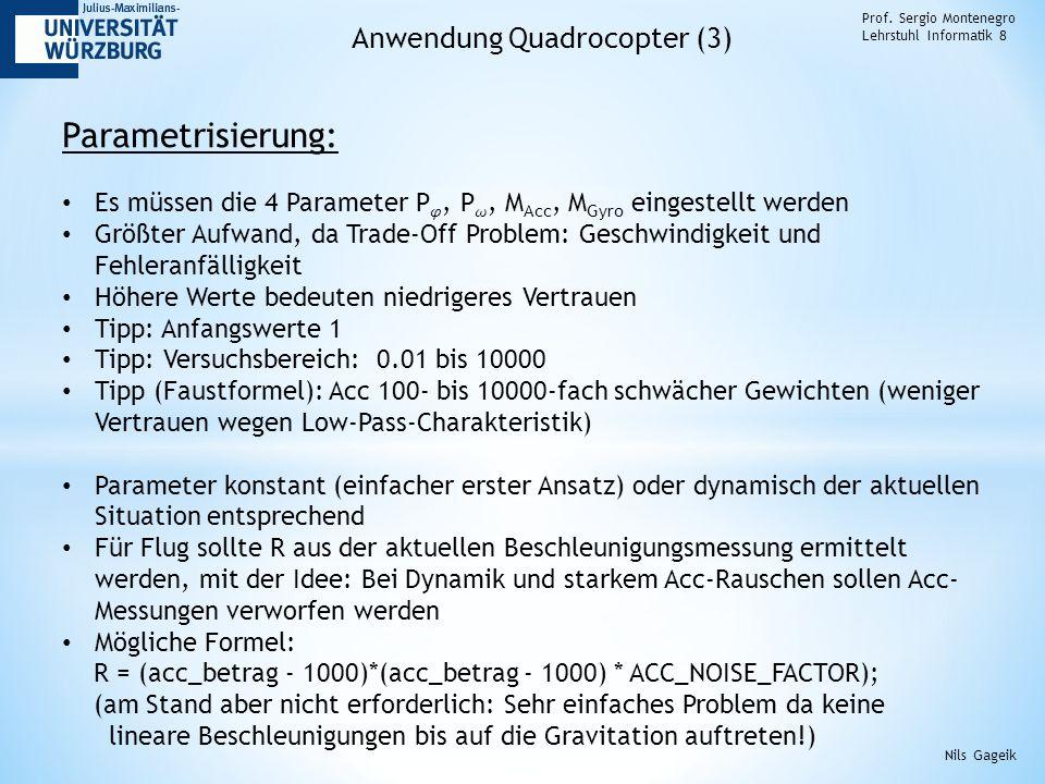 Parametrisierung: Anwendung Quadrocopter (3)