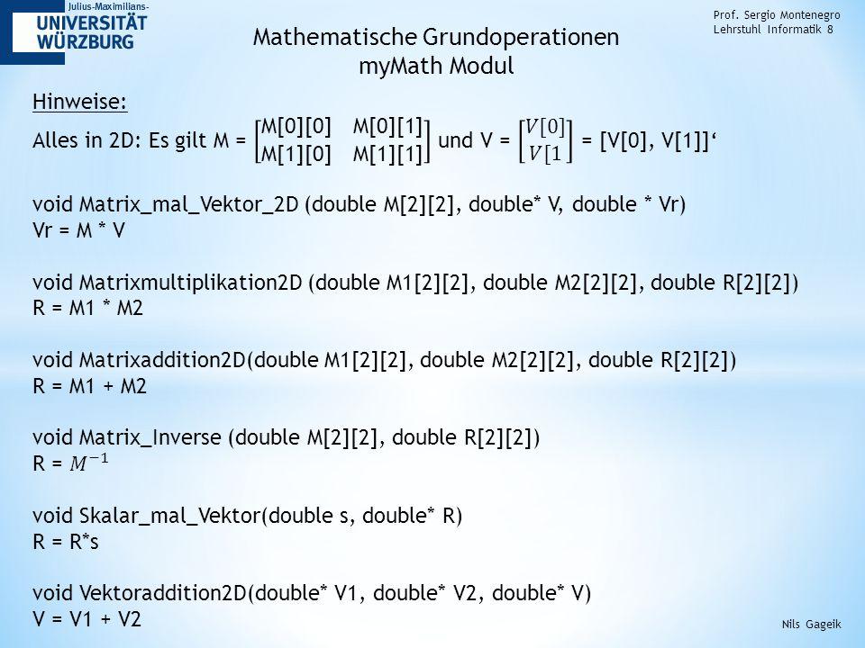 Mathematische Grundoperationen