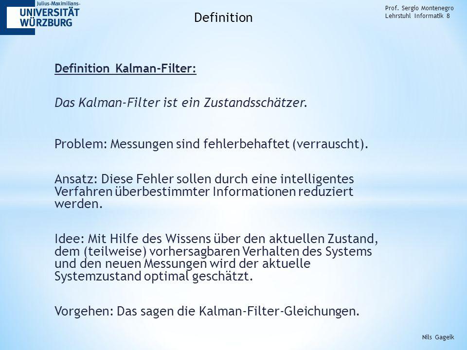 Das Kalman-Filter ist ein Zustandsschätzer.