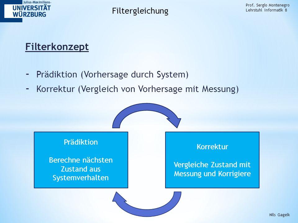 Filterkonzept Prädiktion (Vorhersage durch System)