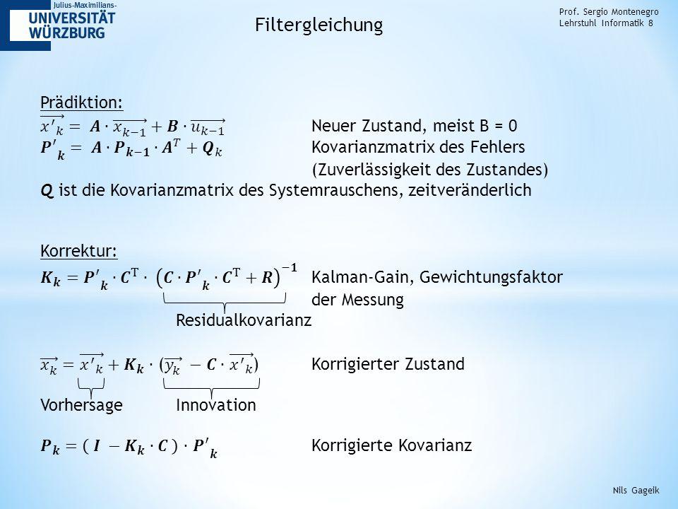 Filtergleichung Prädiktion: