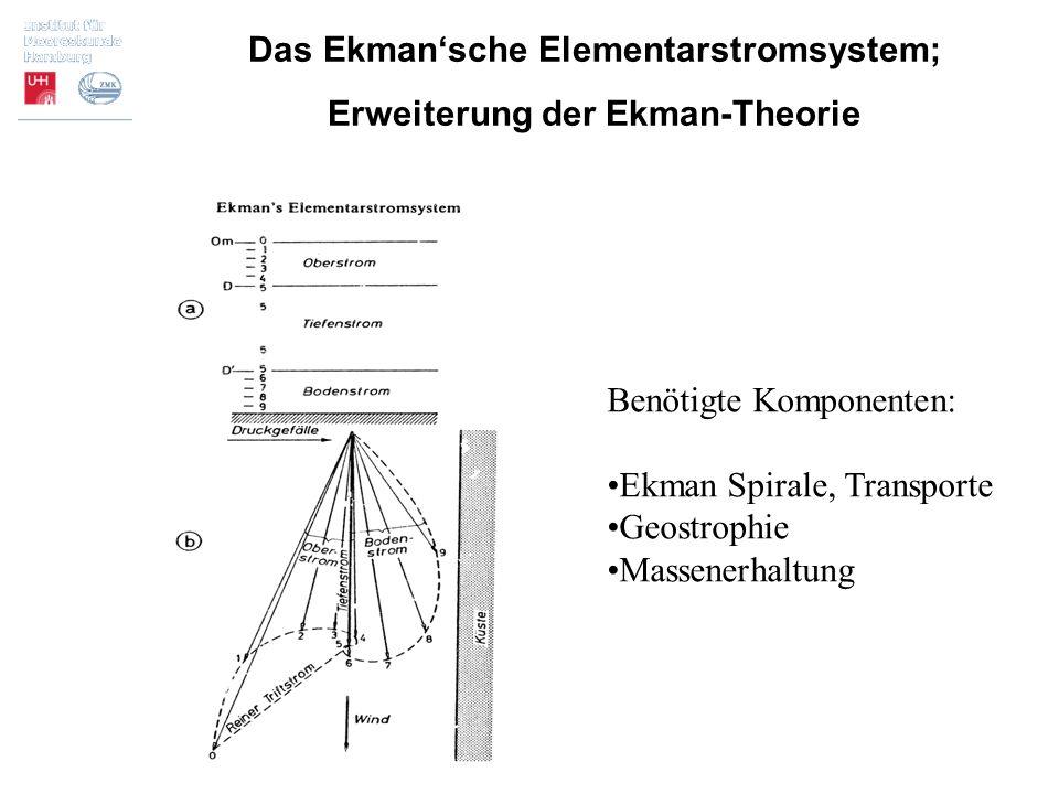 Das Ekman'sche Elementarstromsystem; Erweiterung der Ekman-Theorie