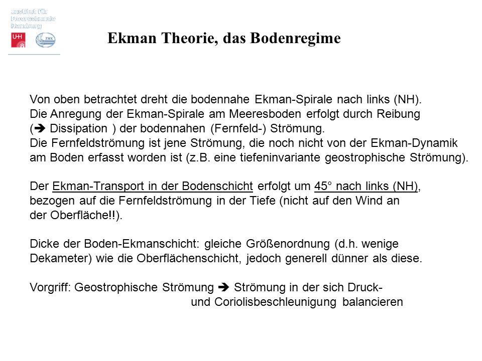 Ekman Theorie, das Bodenregime