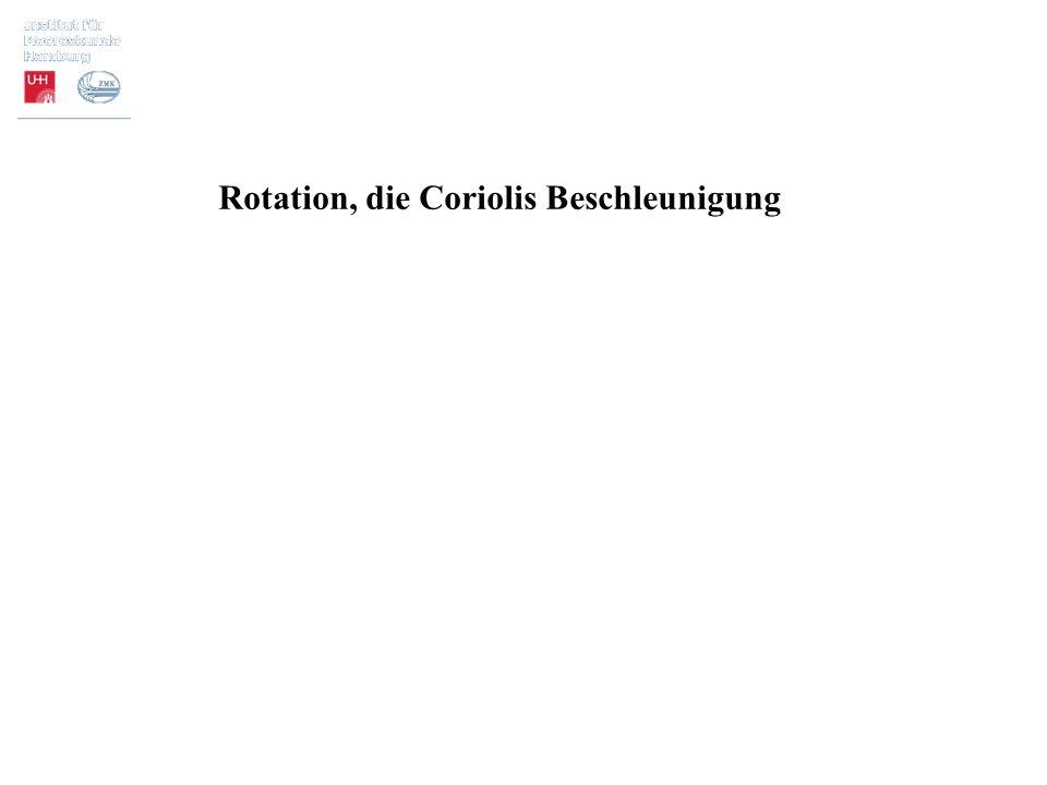 Rotation, die Coriolis Beschleunigung