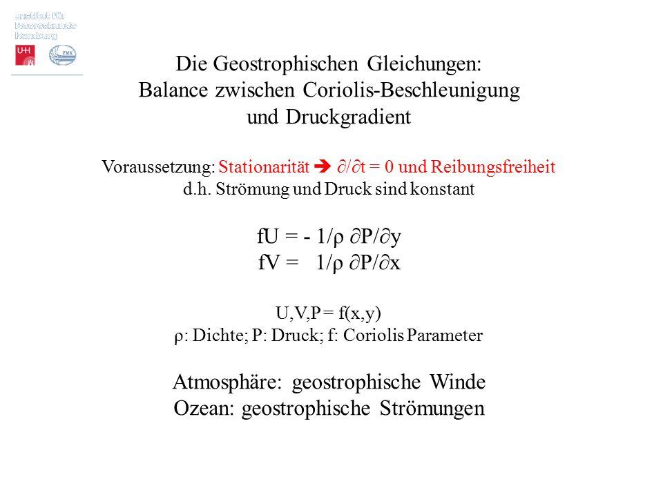 Die Geostrophischen Gleichungen: