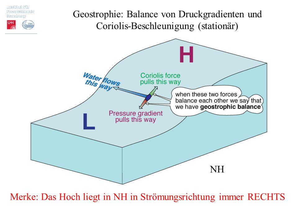 Geostrophie: Balance von Druckgradienten und