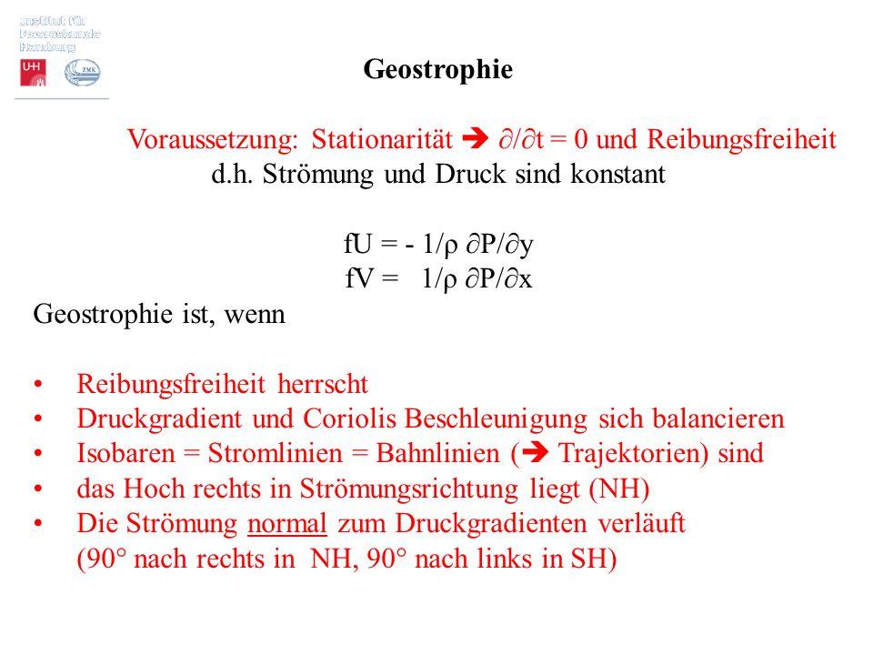 Voraussetzung: Stationarität  ∂/∂t = 0 und Reibungsfreiheit