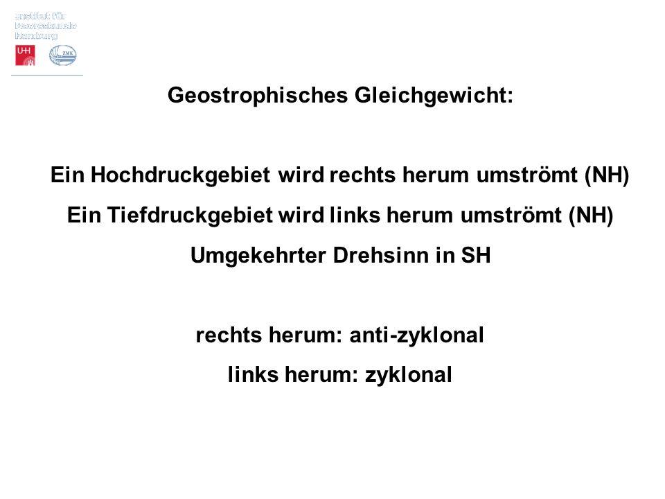 Geostrophisches Gleichgewicht: