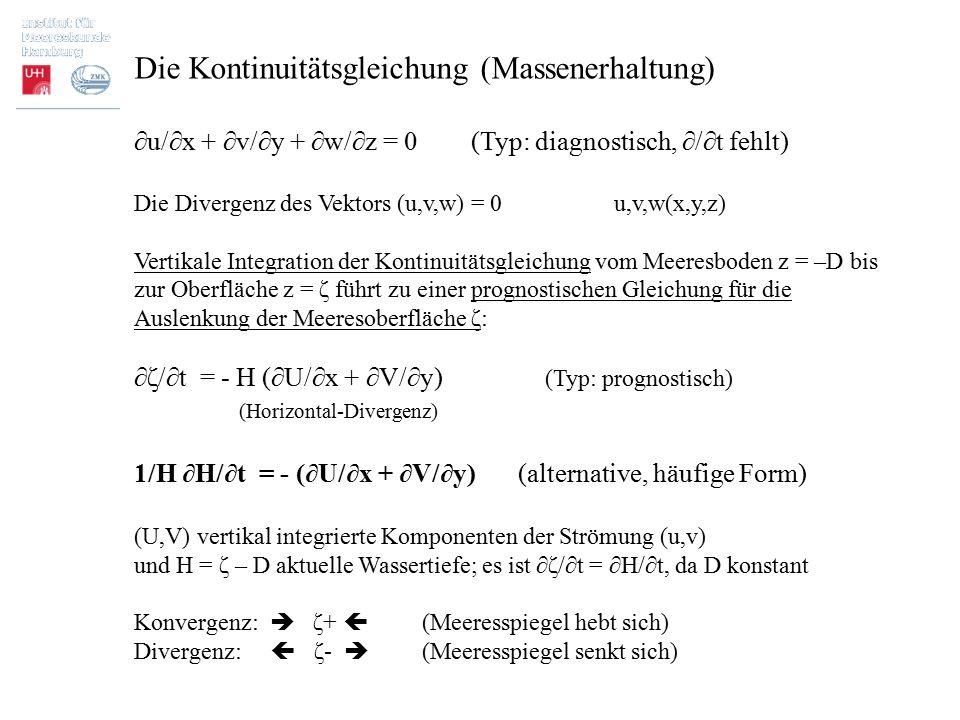 Die Kontinuitätsgleichung (Massenerhaltung)