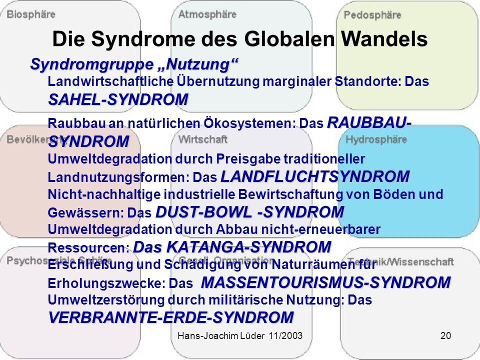 Die Syndrome des Globalen Wandels