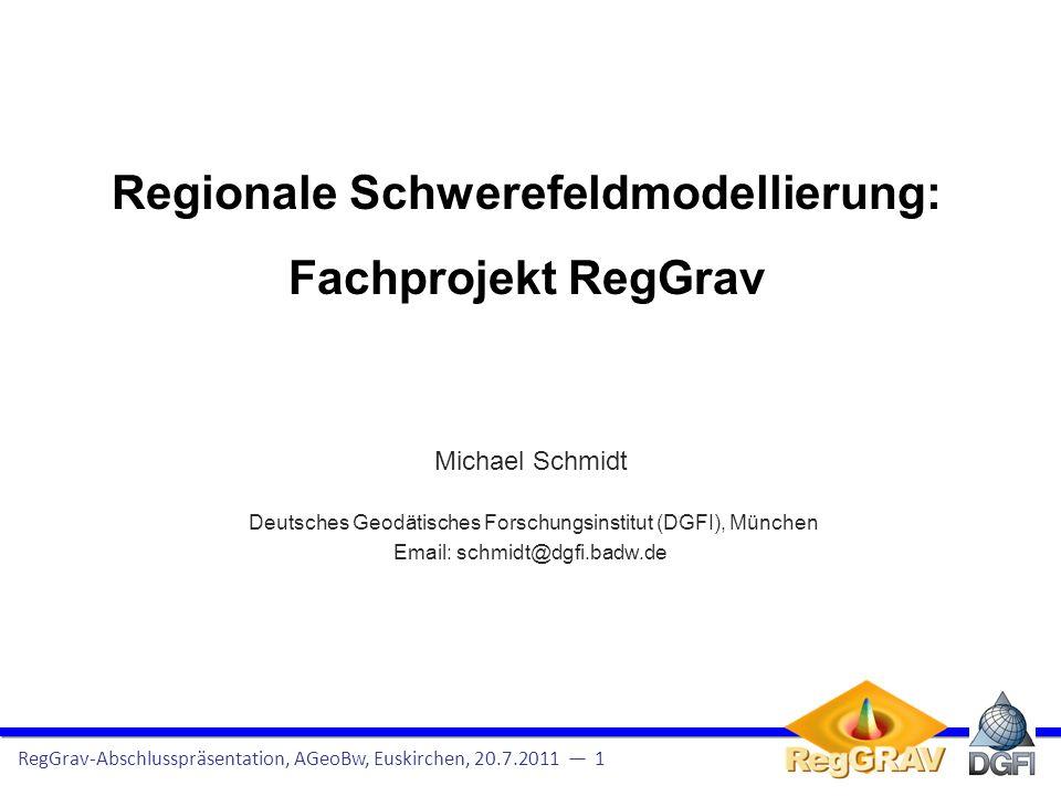 Regionale Schwerefeldmodellierung: