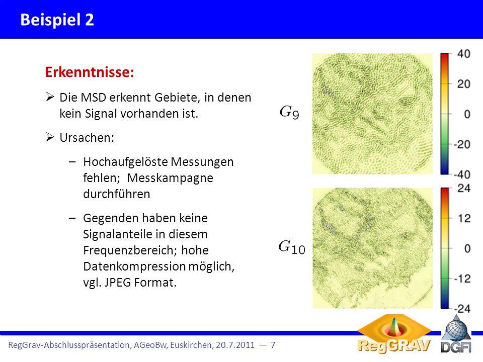 Beispiel 2 Erkenntnisse: