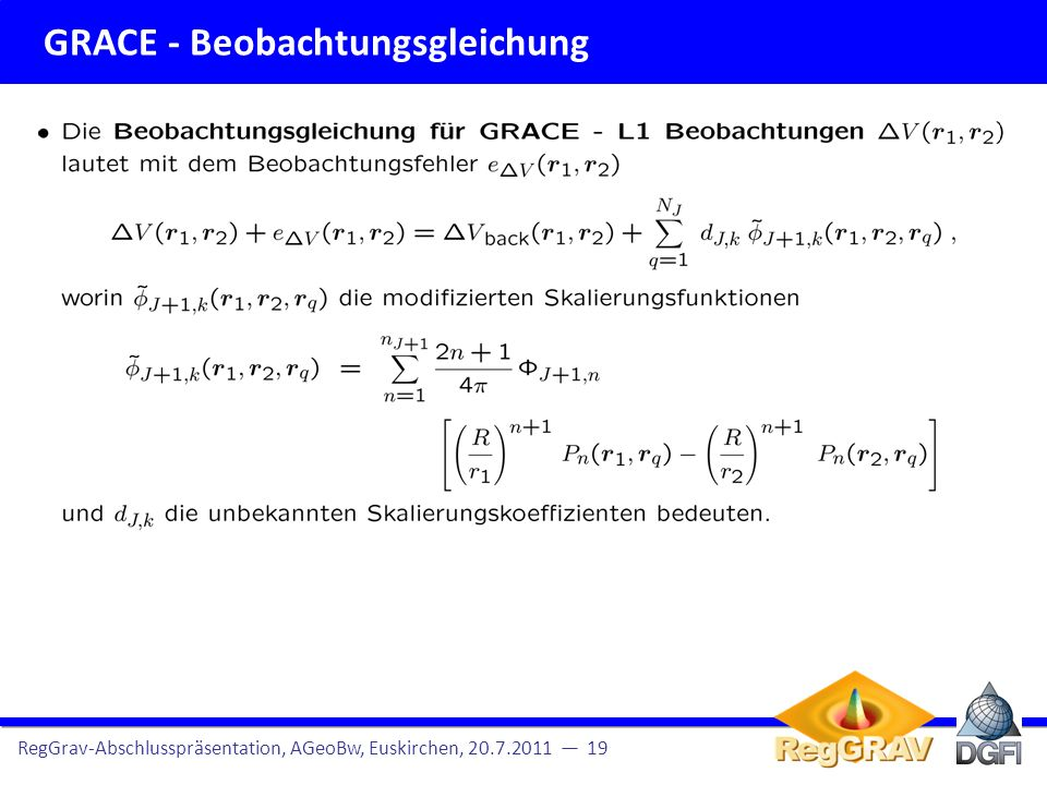 GRACE - Beobachtungsgleichung