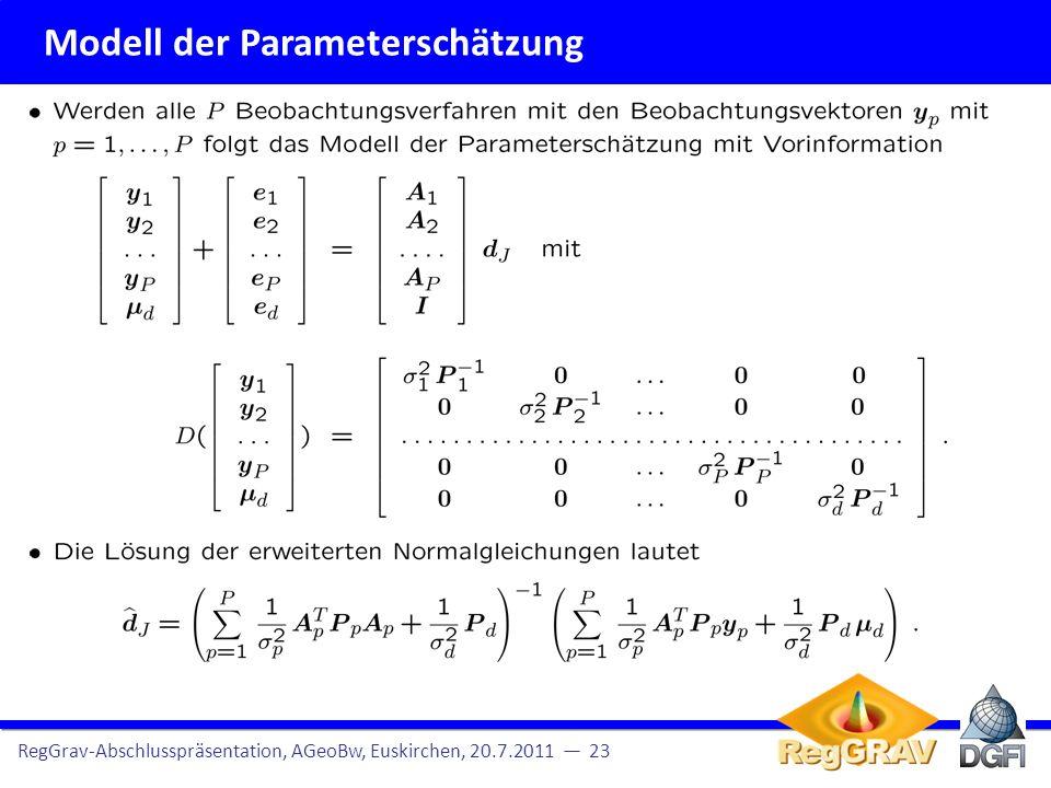 Modell der Parameterschätzung