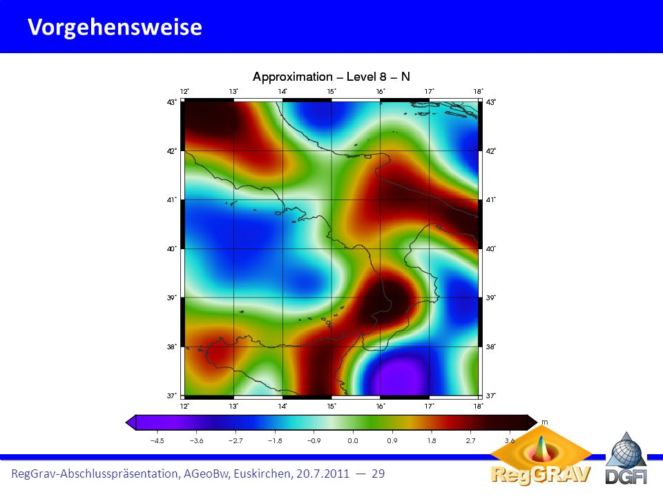 Vorgehensweise RegGrav-Abschlusspräsentation, AGeoBw, Euskirchen, 20.7.2011 — 29