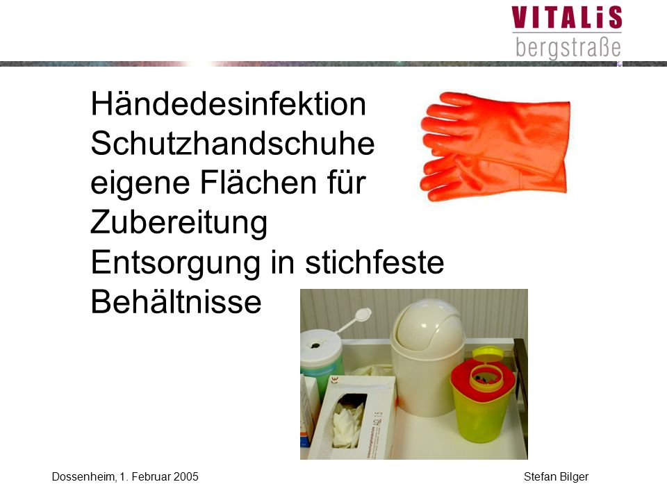 Händedesinfektion Schutzhandschuhe
