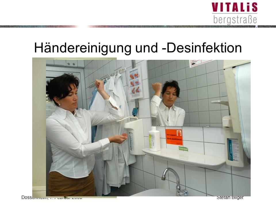 Händereinigung und -Desinfektion
