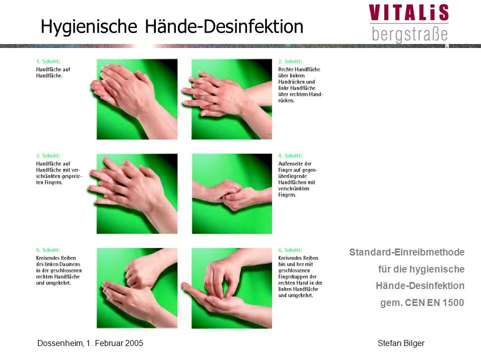 Hygienische Hände-Desinfektion