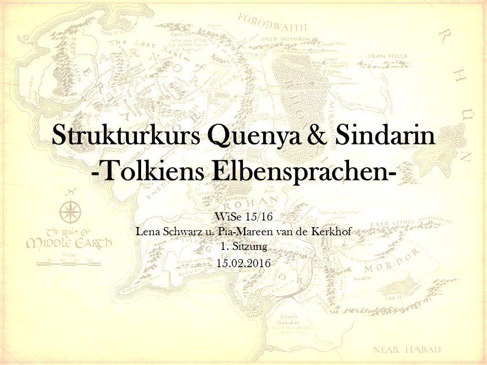 Strukturkurs Quenya & Sindarin -Tolkiens Elbensprachen-