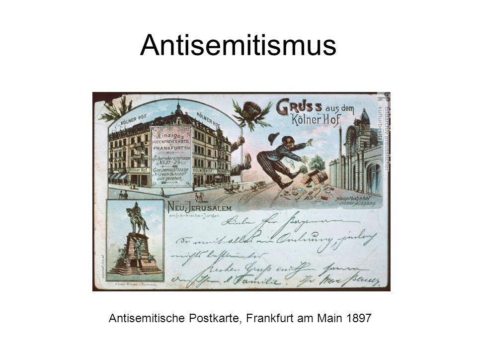 Antisemitische Postkarte, Frankfurt am Main 1897