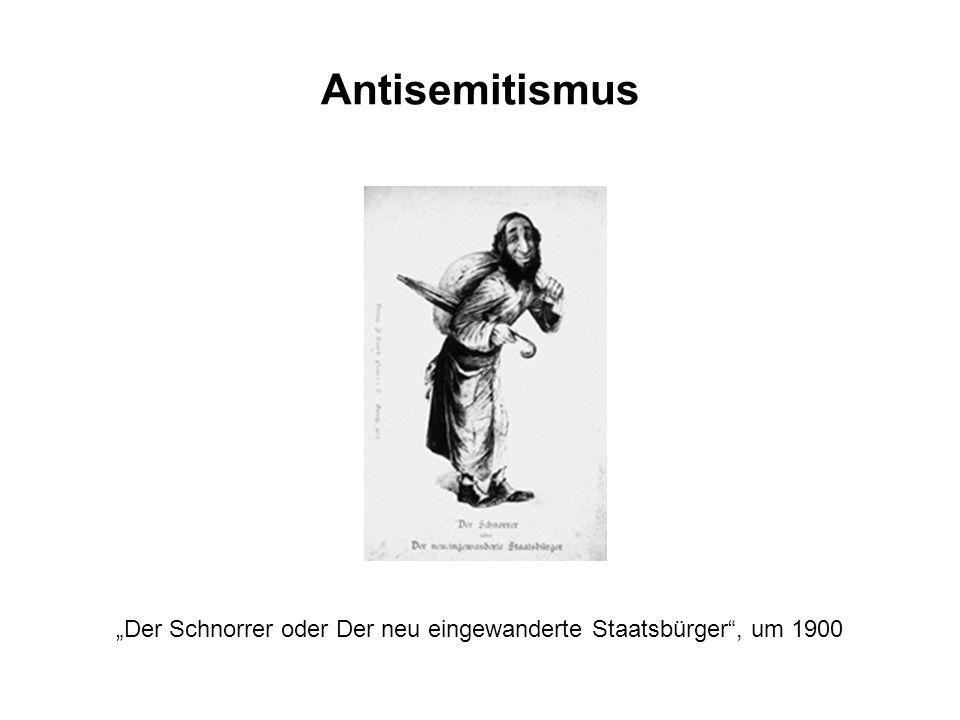 """""""Der Schnorrer oder Der neu eingewanderte Staatsbürger , um 1900"""